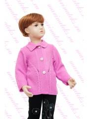 Пальто-кофта для девочек КФ-774